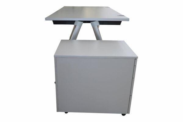 Wini Schreibtisch mit Rollcontainer Sicht von der Seite